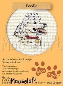 Mouseloft Poodle Paw Prints cross stitch kit